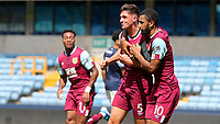 Bobby Thomas (No 5) celebrates scoring Burnley's opening goal during Millwall Under-23 vs Burnley Under-23, Professional Development League Football at The Den on 9th August 2019