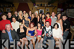 HAPPY: Happy birthday was bestowed on Tonya McGowan, Ardfert as she celebrated her 21st birthday with family and friends in The Abbey Tavern, Ardfert on Saturday night,(tonya is seated 3rd from right)...... ....