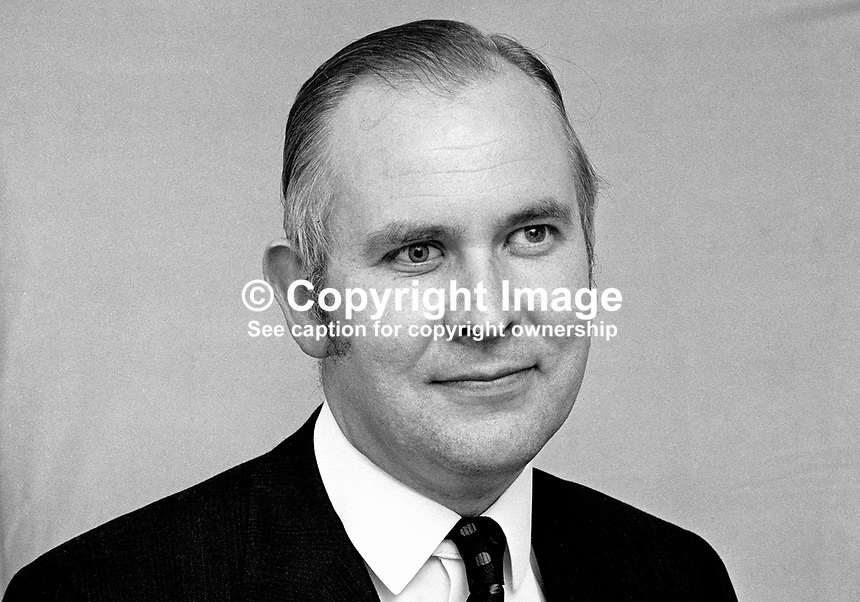 Liam McCollum, QC, candidate, South Belfast, Alliance Party of N Ireland, Assembly Election, Stormont, 197305000299b.<br />