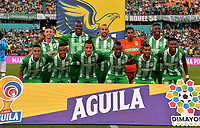 MEDELLÍN-COLOMBIA, 18-08-2019: Jugadores de Atlético Nacional, posan para una foto, antes partido de la fecha 6 entre Atlético Nacional y Unión Magdalena, por la Liga Águila II 2019, jugado en el estadio Atanasio Girardot de la ciudad de Medellín. / Players of Atletico Nacional, pose for a photo, prior a match of the 6th date between Atletico Nacional and Union Magdalena, for the Aguila Leguaje II 2019 played at the Atanasio Girardot Stadium in Medellin city. / Photo: VizzorImage / León Monsalve / Cont.