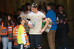 HOUSTON, TX - DECEMBER 11:  Ian Harkes (16) of Wake Forest University talks with fan during the Division I Men's Soccer Championship held at the BBVA Compass Stadium on December 11, 2016 in Houston, Texas.  Stanford defeated Wake Forest 1-0 in a penalty shootout for the national title. (Photo by Justin Tafoya/NCAA Photos via Getty Images)