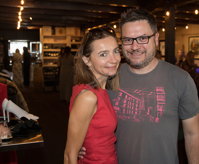 Ewelina Tarnowka and Nate Ashley during Reno Magazine's Fall Fashion Styling at the Whispering Vine Wine Co. on Saturday, August 19, 2017.