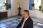 Tony Blair, former U.K. prime minister and Middle East envoy for the United Nations, speaks during an interview at the American Colony hotel in Jerusalem, Israel, on Tuesday, May 5, 2009. Photographer: Ahikam Seri