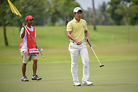 Takumi KANAYA (JPN) departs the green on 7 after sinking his par saving putt during Rd 4 of the Asia-Pacific Amateur Championship, Sentosa Golf Club, Singapore. 10/7/2018.<br /> Picture: Golffile | Ken Murray<br /> <br /> <br /> All photo usage must carry mandatory copyright credit (&copy; Golffile | Ken Murray)