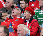Munster fans - European Rugby Champions Cup - Sale Sharks vs Munster -  AJ Bell Stadium - Salford- England - 18th October 2014  - Picture Simon Bellis/Sportimage