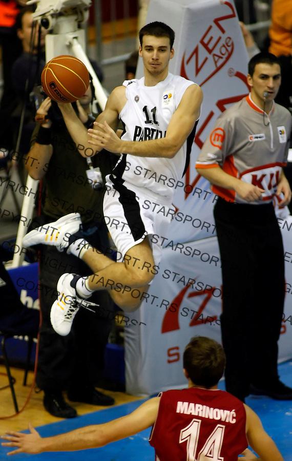 Kosarka, NLB league, season 2007/08.Partizan Vs. Crvena Zvezda.Uros Tripkovic.Beograd, 16.11.2008..foto: Srdjan Stevanovic/Starsportphoto.com ©