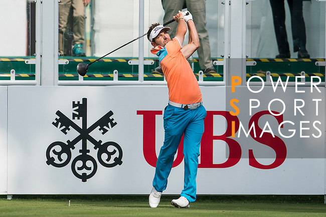 Jbe Kruger of South Africa tees off the first hole during the 58th UBS Hong Kong Golf Open as part of the European Tour on 08 December 2016, at the Hong Kong Golf Club, Fanling, Hong Kong, China. Photo by Marcio Rodrigo Machado / Power Sport Images