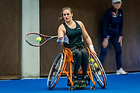 Alphen aan den Rijn, Netherlands, December 18, 2019, TV Nieuwe Sloot,  NK Tennis, Wheelchair doubles: Kelly van der Ven (NED)<br /> Photo: www.tennisimages.com/Henk Koster