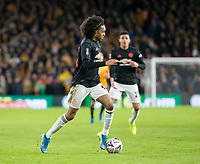 4th January 2020; Molineux Stadium, Wolverhampton, West Midlands, England; English FA Cup Football, Wolverhampton Wanderers versus Manchester United; Tahith Chong of Manchester United running with the ball at his feet - Strictly Editorial Use Only. No use with unauthorized audio, video, data, fixture lists, club/league logos or 'live' services. Online in-match use limited to 120 images, no video emulation. No use in betting, games or single club/league/player publications
