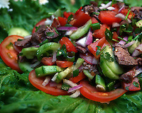 Thursday, April 3, 2008--Maplewood--Yada Ferrill's Thai Beef Salad. Ferrill started making this central Thai dish when she moved to the United States since her father owned a restaurant in Thailand and she never cooked..Sarah Conard   freelance