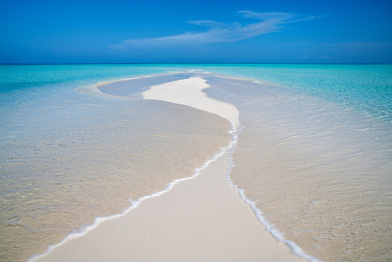 Samll sand island. Turks and Caicos. Providenciales