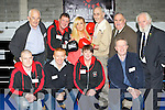 Officially opening the new Sliabh Luachra Boxing centre in Castleisland on Saturday was Front row l-r: John Coffey, Eddie O'Shea, Carmel O'Connell, Eamon Reilly NEKD. Back row: pat Mitchell, John O'Connell, Jennifer Coffey, Bernard Collins NEKD, Dominick O'Rourke Director of Boxing Ireland and Jim Walsh Secretary of the Munster Boxing association ..