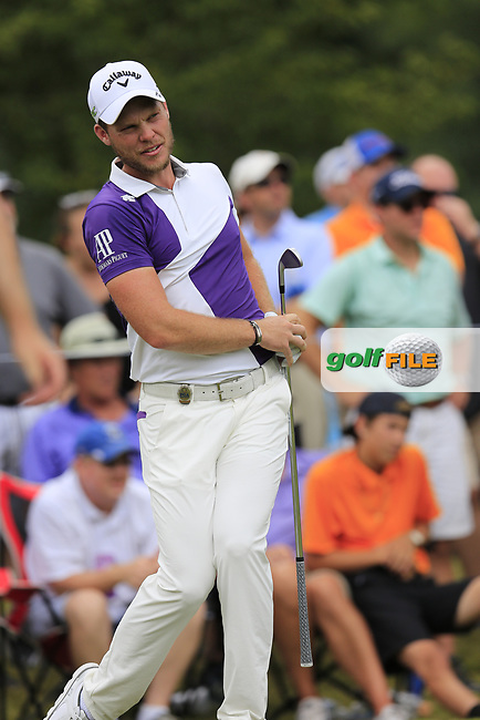 Danny Willett (ENG) tees off the par3 13th tee during Friday's Round 2 of the 2017 PGA Championship held at Quail Hollow Golf Club, Charlotte, North Carolina, USA. 11th August 2017.<br /> Picture: Eoin Clarke | Golffile<br /> <br /> <br /> All photos usage must carry mandatory copyright credit (&copy; Golffile | Eoin Clarke)