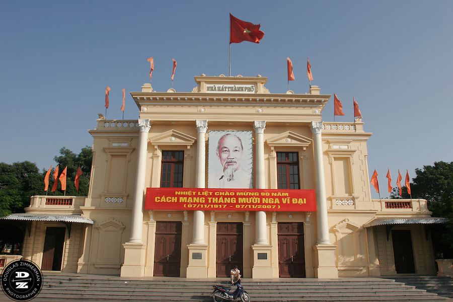 The Opera House is one of the tourist sights in Haiphong, Vietnam.  Haiphong, the third largest city in Vietnam, is an important seaport and industrial center for the country.  Photograph by Douglas ZImmerman