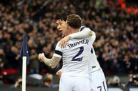 Son Heung-Min of Tottenham Hotspur celebrates scoring the opening goal during Tottenham Hotspur vs Juventus, UEFA Champions League Football at Wembley Stadium on 7th March 2018