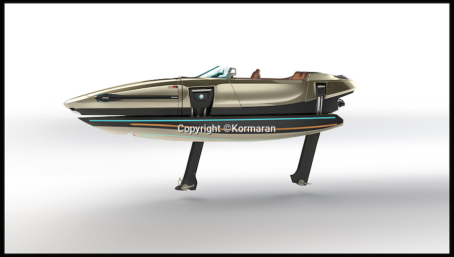 BNPs.co.uk (01202 558833)<br /> Pic: Kormaran/BNPS<br /> <br /> ***Please Use Full Byline***<br /> <br /> The Kormaran boat. <br /> <br /> James Bond eat your heart out - the world's first 'shapeshifting' powerboat has been unveiled after receiving backing from legendary sports car makers Porsche.<br /> <br /> The Kormaran might at first glance appear to be a standard speedboat, but at the touch of a button the incredible design allows it to radically transform itself into six different shapes.<br /> <br /> It is the result of eight years of research and design, and has been part-funded by Daniell Porsche, great-grandson of Porsche founder Ferdinand Porsche.<br /> <br /> Unsurprisingly it comes with a whopping €1 million plus VAT - which works out around £900,000.