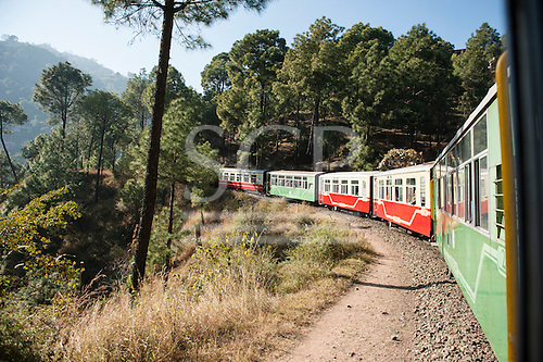 Shimla, Himachal Pradesh, India. The Himalayan Queen, the Toy Train from Shimla to Kalka.
