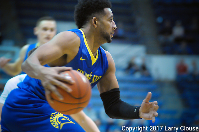 January 14, 2017:  San Jose State guard, Gary Williams #2, during the NCAA basketball game between the San Jose State Spartans and the Air Force Academy Falcons, Clune Arena, U.S. Air Force Academy, Colorado Springs, Colorado.  San Jose State defeats Air Force 89-85.