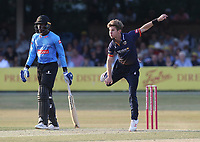 Adam Zampa in bowling action for Essex during Essex Eagles vs Sussex Sharks, Vitality Blast T20 Cricket at The Cloudfm County Ground on 4th July 2018