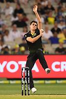 1st November 2019; Melbourne Cricket Ground, Melbourne, Victoria, Australia; International T20 Cricket, Australia versus Sri Lanka; Pat Cummins of Australia bowls - Editorial Use