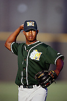 Jesus Colome of the Modesto A's during a California League baseball game circa 1999. (Larry Goren/Four Seam Images)