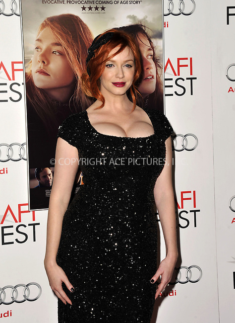 WWW.ACEPIXS.COM....November 7, 2012, Los Angeles, CA.......Christina Hendricks arriving at the 'Ginger And Rosa' screening at AFI Fest 2012 at Grauman's Chinese Theatre on November 7, 2012 in Hollywood, California........By Line: Peter West/ACE Pictures....ACE Pictures, Inc..Tel: 646 769 0430..Email: info@acepixs.com