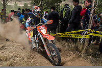 Greece's Panagiotis Kakolirisduring the second day World trophy class of the FIM international six days of enduro 2016 in Navarra, Spain. October 11, 2016. (ALTERPHOTOS/Rodrigo Jimenez) NORTEPHOTO.COM