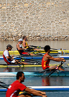 Beijing, CHINA,  Start of the JM1X, during the  2007. FISA Junior World Rowing Championships Shunyi Water Sports Complex. Wed. 08.08.2007  [Photo, Peter Spurrier/Intersport-images]..... , Rowing Course, Shun Yi Water Complex, Beijing, CHINA,