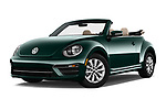Stock pictures of low aggressive front three quarter view of 2017 Volkswagen Beetle 1.8T-Dune-Conv.-auto 2 Door Convertible Low Aggressive