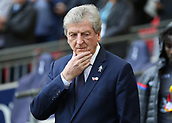 5th November 2017, Wembley Stadium, London England; EPL Premier League football, Tottenham Hotspur versus Crystal Palace; Crystal Palace Manager Roy Hodgson looking concerned from the dugout before kick off