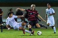 STANFORD, CA - August 19, 2014: Mark Verso during the Stanford vs CSU Bakersfield men's exhibition soccer match in Stanford, California.  Stanford won 1-0.