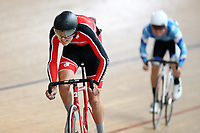 Laurence Pithie (L) of Canterbury and Callum Walsh of Auckland at the Age Group Track National Championships, Avantidrome, Home of Cycling, Cambridge, New Zealand, Friday, March 17, 2017. Mandatory Credit: © Dianne Manson/CyclingNZ  **NO ARCHIVING**