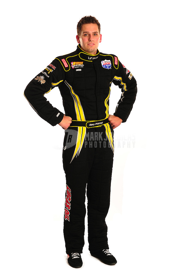 Jan. 19, 2012; Jupiter, FL, USA: Gary Pritchett poses for portraits during testing at the PRO Winter Warmup at Palm Beach International Raceway. Mandatory Credit: Mark J. Rebilas-
