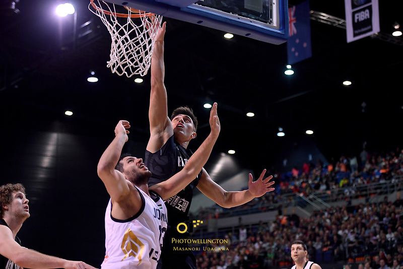 New Zealand Tall Blacks&rsquo; Reuben Te Rangi in action during the FIBA World Cup Basketball Qualifier - NZ Tall Blacks v Jordan at Horncastle Arena, Christchurch, New Zealand on Thursday 29 November  2018. <br /> Photo by Masanori Udagawa. <br /> www.photowellington.photoshelter.com