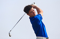 Rory Williamson (Holywood) on the 17th tee during Round 2 - Strokeplay of the North of Ireland Championship at Royal Portrush Golf Club, Portrush, Co. Antrim on Tuesday 10th July 2018.<br /> Picture:  Thos Caffrey / Golffile