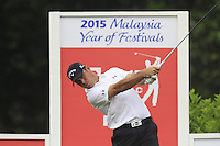 Gary Woodland (USA) on the 7th tee during Round 3 of the CIMB Classic in the Kuala Lumpur Golf & Country Club on Saturday 1st November 2014.<br /> Picture:  Thos Caffrey / www.golffile.ie