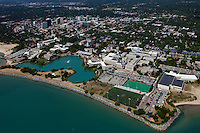 aerial photograph Northwestern University, Evanston, Illinois