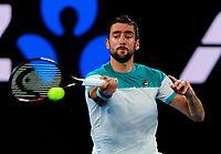 Marin Cilic of Croatia in action on Day 14 of the Australian Open
