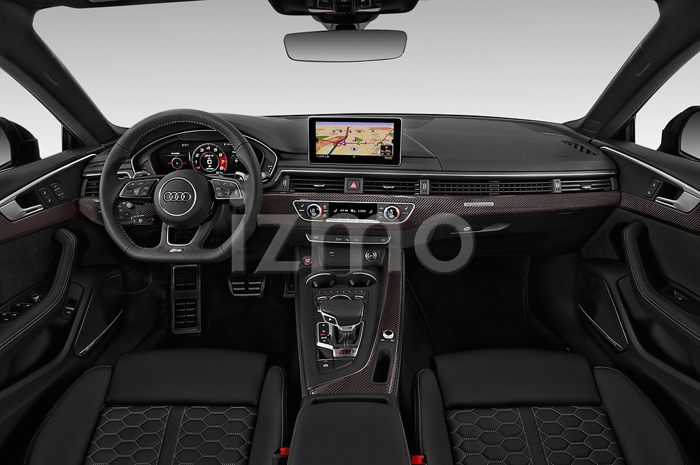 Stock photo of straight dashboard view of 2019 Audi RS-5-Sportback - 5 Door Hatchback Dashboard