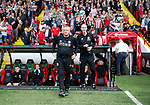 Chris Wilder manager of Sheffield Utd and assistant Alan Knill during the Championship match at Bramall Lane, Sheffield. Picture date 26th August 2017. Picture credit should read: Simon Bellis/Sportimage