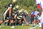 Palos Verdes, CA 09/24/10 - Mickey O'crowley (Peninsula #53)  in action during the Serra-Peninsula varsity football game at Peninsula High School.