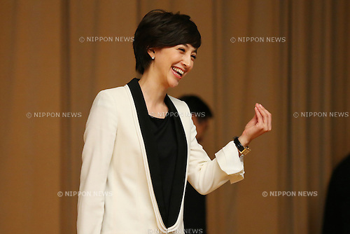 Christel Takigawa, <br /> September10, 2013  : <br /> International Olympic Committee (IOC) session return home press conference <br /> in Shinjuku, Tokyo, Japan. <br /> (Photo by Daiju Kitamura/AFLO SPORT)