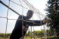 SÃO PAULO, SP, 07 DE FEVEREIRO DE 2014 - ESPORTES - FUTEBOL - Gledson durante treino no Ct. do Parque Ecológico do Tietê, preparação para partida contra a equipe do Linense. Fotos: Dorival Rosa/ Brasil Photo Press).