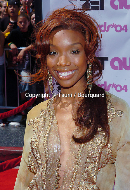 Brandy arriving at the BET Awards at the Kodak Theatre in Los Angeles. June 29, 2004.