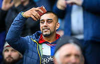A Blackburn Rovers takes in the pre match atmosphere<br /> <br /> Photographer Alex Dodd/CameraSport<br /> <br /> The EFL Sky Bet Championship - Blackburn Rovers v Norwich City - Saturday 22nd December 2018 - Ewood Park - Blackburn<br /> <br /> World Copyright © 2018 CameraSport. All rights reserved. 43 Linden Ave. Countesthorpe. Leicester. England. LE8 5PG - Tel: +44 (0) 116 277 4147 - admin@camerasport.com - www.camerasport.com