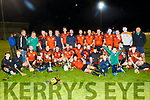 Ballyheigue B celebrate their victory over Duagh last Friday night at Abbeydorney GAA grounds in the County Junior hurling championship final.