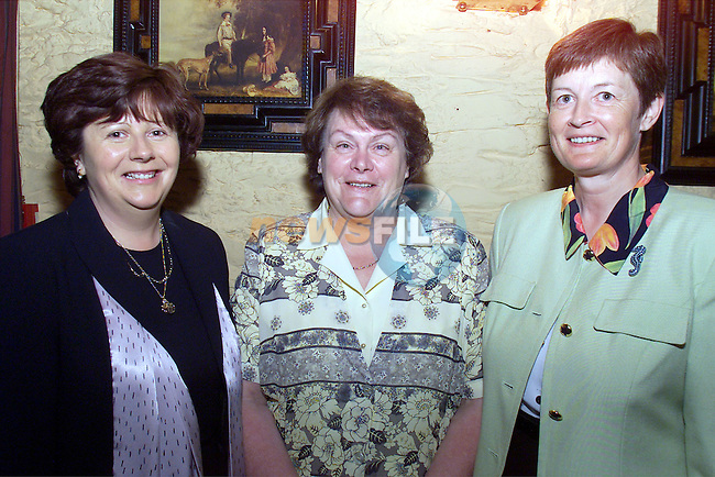 Marie Bird, Marie Sarsfield and Mary Mulvin pictured at Eveleen Higgins' retirement party in Donegans pub..Picture: Arthur Carron/Newsfile