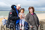 James, Skyler and Nora Coffey from Tralee in Fenit on Sunday morning at the Wild Mind Festival on Sunday.