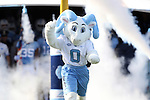 24 October 2015: Rameses Jr., a new UNC mascot, makes his football debut. The University of North Carolina Tar Heels hosted the University of Virginia Cavaliers at Kenan Memorial Stadium in Chapel Hill, North Carolina in a 2015 NCAA Division I College Football game. UNC won the game 26-13.