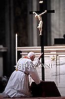 Good Friday Passion of the Lord Benedict XVI  in Saint Peter's Basilica.April 22, 2011